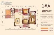 才子城4室2厅2卫109平方米户型图