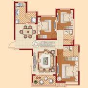 恒大绿洲3室2厅2卫130平方米户型图