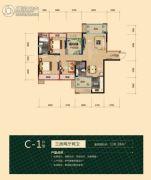 海德公园3室2厅2卫110平方米户型图