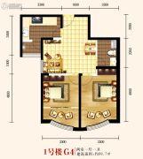 城关江南明珠2室1厅1卫89平方米户型图