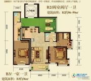 泊渡2室2厅1卫96平方米户型图