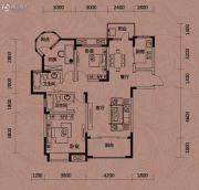 知音半岛3室2厅2卫129平方米户型图