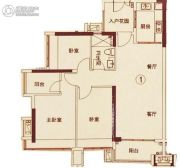 锦绣龙湾3室2厅2卫90平方米户型图