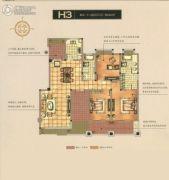 碧桂园梅公馆3室2厅2卫140平方米户型图