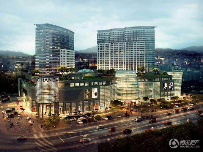 威海九龙城休闲购物广场外景效果图
