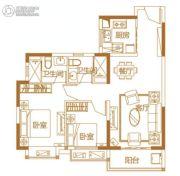 恒大城・悦湖公馆2室2厅2卫89平方米户型图