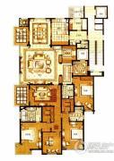 华府樟园4室3厅3卫0平方米户型图
