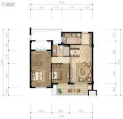 香格里拉2室2厅1卫87平方米户型图