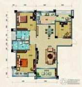 淄博碧桂园3室2厅2卫131平方米户型图