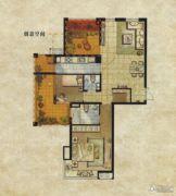 达安上品花园2室2厅2卫105平方米户型图