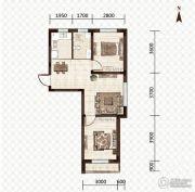 益和国际城2室2厅1卫65平方米户型图