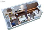康桥溪公馆1室1厅1卫41平方米户型图