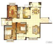 华宸东区国际3室2厅2卫129平方米户型图