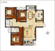 佳合如苑3室2厅2卫125平方米户型图