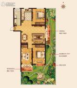 城建・锦绣城3室2厅1卫116--118平方米户型图