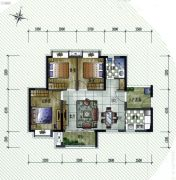 保利�W府里3室2厅1卫88平方米户型图