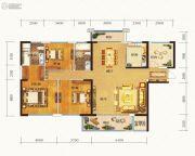 晟通牡丹舸4室2厅2卫188平方米户型图