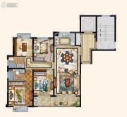京都悦府4室2厅2卫116平方米户型图