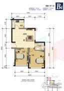 锦绣星城2室1厅1卫63平方米户型图