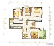 金隅时代都汇3室2厅2卫99平方米户型图