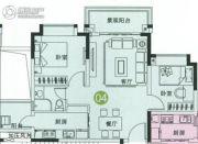 中森茗苑2室2厅1卫71平方米户型图