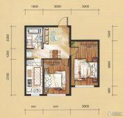 国茂清华园2室1厅1卫61平方米户型图