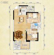 香颂诺丁山2室2厅1卫72平方米户型图