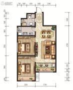 恒丰理想城2室2厅1卫84--85平方米户型图