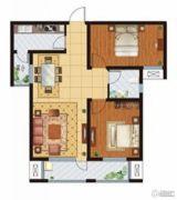 万国园星洲美域2室2厅1卫83平方米户型图