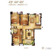 保利・香槟国际3室2厅2卫110平方米户型图