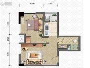 晋愉雅高国际1室1厅1卫62平方米户型图