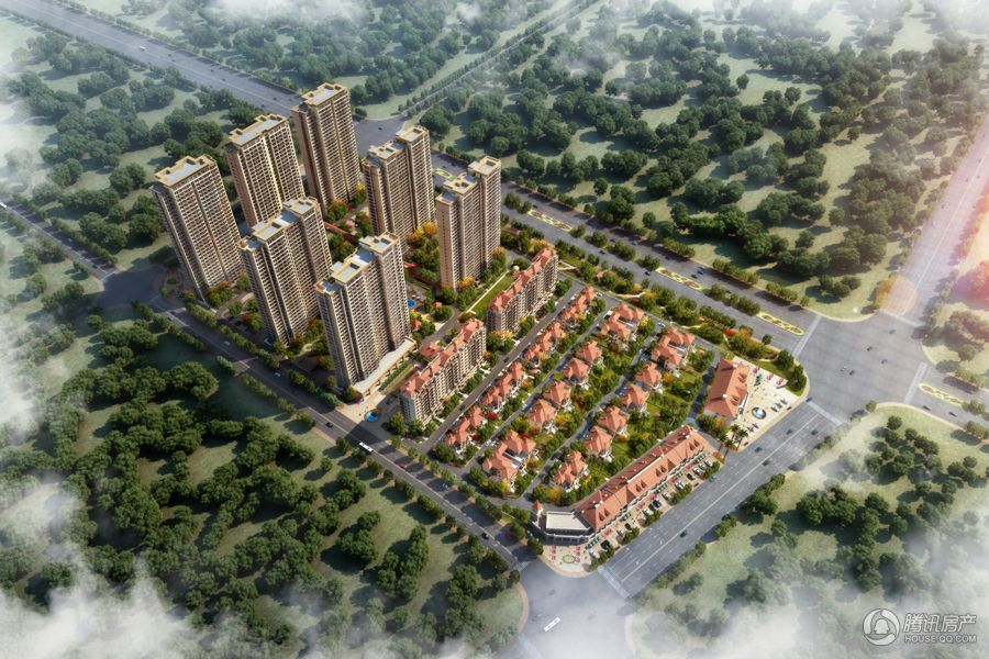 湖东府项目鸟瞰图