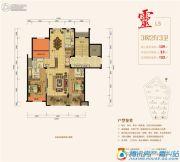 紫元尚宸3室2厅3卫129平方米户型图