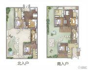 热河饮马川2室1厅2卫90平方米户型图