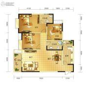 春天印象二期3室2厅2卫121平方米户型图