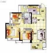 越秀保利爱特城3室2厅1卫86平方米户型图