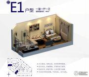 朗悦公园道1�1室1厅0卫44平方米户型图