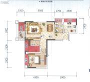 云星钱隆天誉1室1厅1卫68平方米户型图