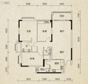 翡翠绿洲3室2厅2卫137平方米户型图