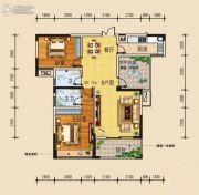 柏林国际3室2厅2卫108平方米户型图