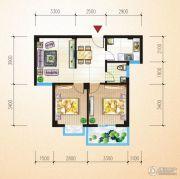 中恒兴・翰林福第2室2厅1卫68平方米户型图