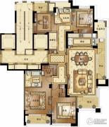 融创常州御园4室2厅2卫197平方米户型图