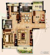 碧桂园城市花园3室2厅1卫114--124平方米户型图