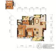 城投地产・智禧湾3室2厅2卫136平方米户型图