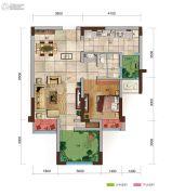 保利观塘2室2厅1卫49平方米户型图