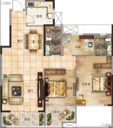 太一格3室2厅2卫110--118平方米户型图