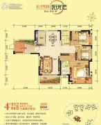 东方明珠・阳光橙3室3厅2卫127平方米户型图