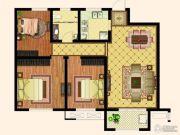 天齐・奥东花园3室2厅1卫110平方米户型图