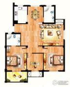 银兰公寓3室2厅2卫113平方米户型图