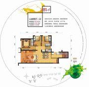 中邦・御珑湾3室2厅1卫87平方米户型图